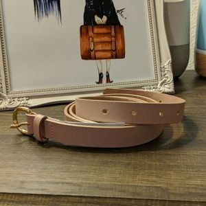 Brand New J.Crew Blush Pink Belt Size L